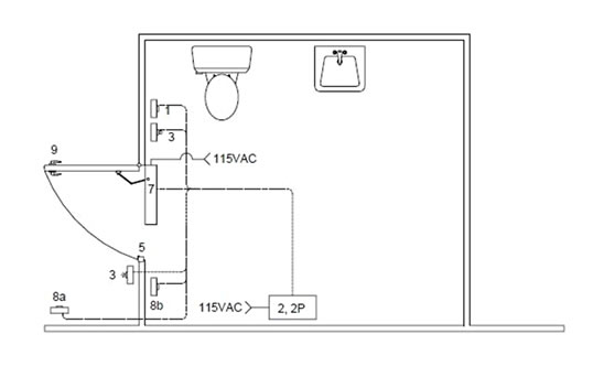 Barrier Free Washroom Layout